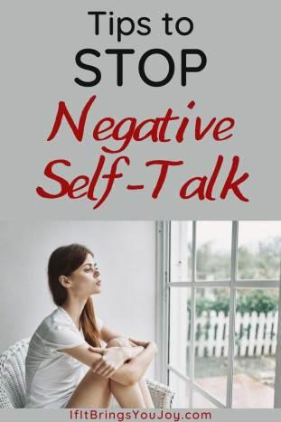 Woman with negative self-talk