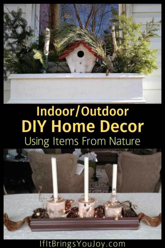 Home decor made with items from nature