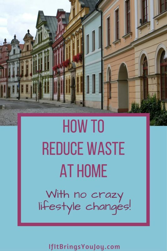 Simple things you can do to reduce waste in your home so you minimize the amount of trash you take to the curb each week. No crazy lifestyle changes required!