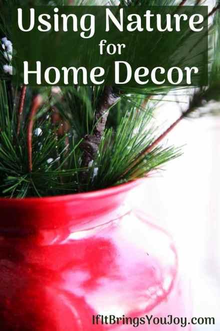 Pine bough decor