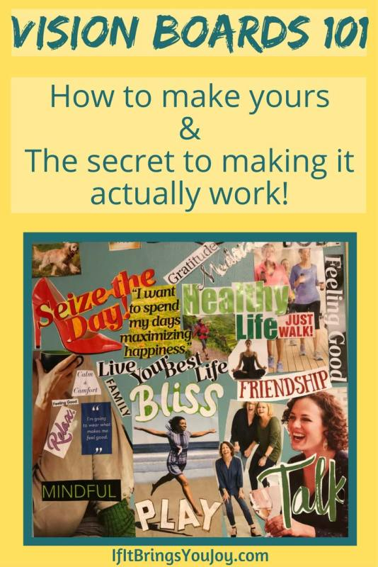 Learn how to bring your dreams to reality. Step-by-step guide to making a powerful vision board, and the secret to making your vision board actually work.