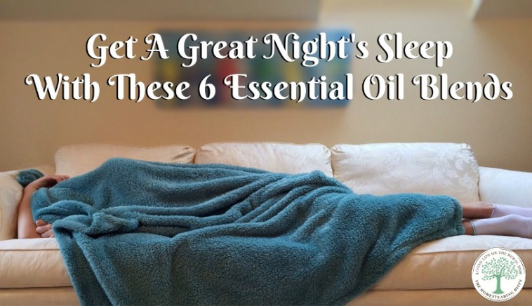 Essential oil blends to help get a great night's sleep
