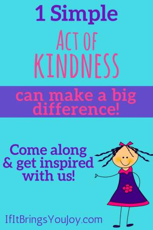 Little girl inviting you to join the kindness movement