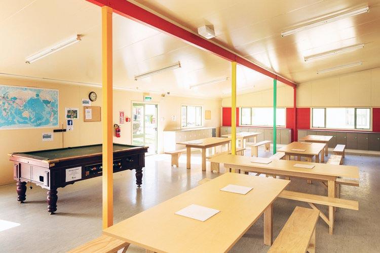 Duncannon hostel dining room