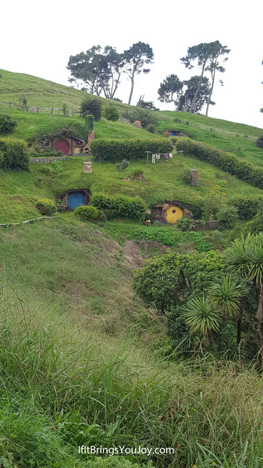 Looking at Hobbiton movie set