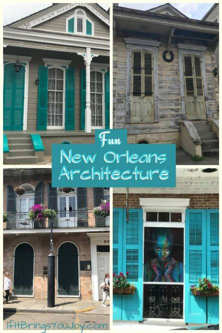 Enjoy 28 photos featuring spectacular New Orleans architectural elements. From the New Orleans French Quarter's century plus old houses, to the mansions in the Garden District, each has its own delightful personality. IfItBringsYouJoy #NewOrleans #Travel