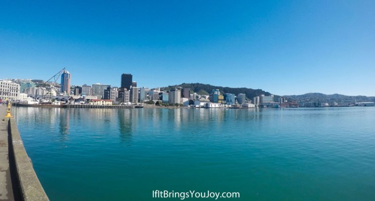 City view on the water in Wellington, New Zealand