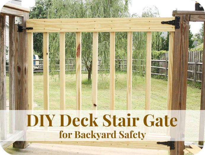 DIY Deck stair gate for safety