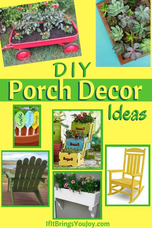 Easy DIY porch decor ideas that will make any outdoor space perfect for both relaxation and entertaining. DIY tutorials will have your porch or deck looking great. #DIY