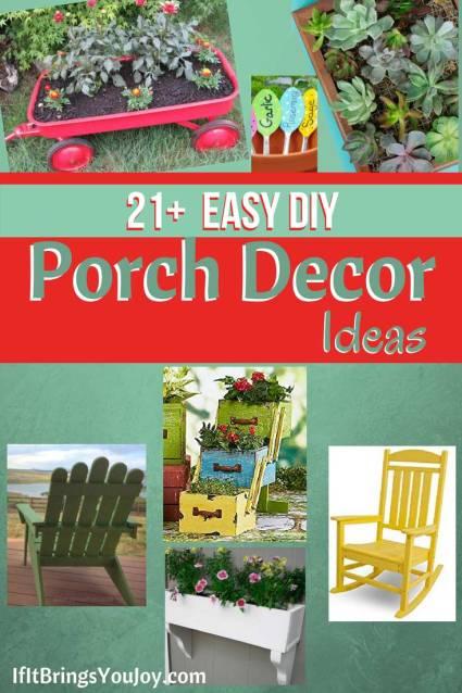DIY project ideas for porch decor