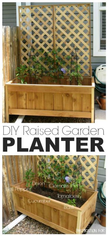 DIY Raised Garden Planter Tutorial