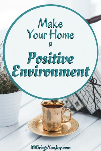 Home setting with plant and coffee