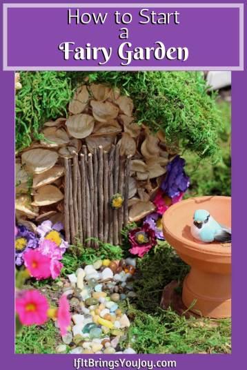 Handmade fairy garden