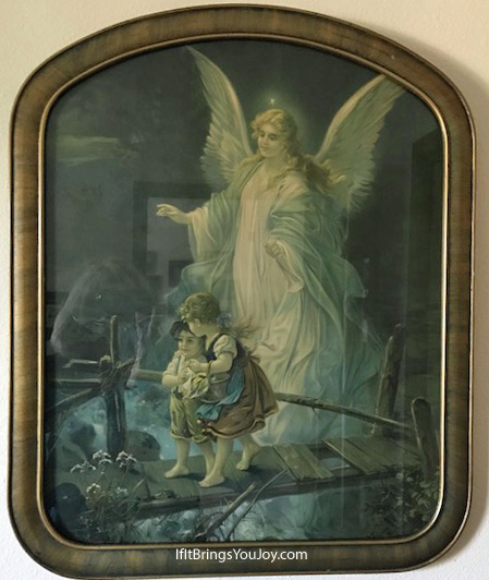 Guardian angel hanging picture