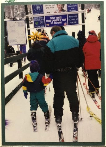 Young skier who grew up to love snowboarding
