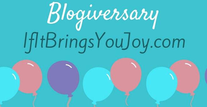 One Year Blog Anniversary