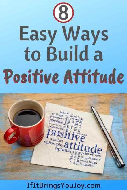 Napkin with positive attitude message