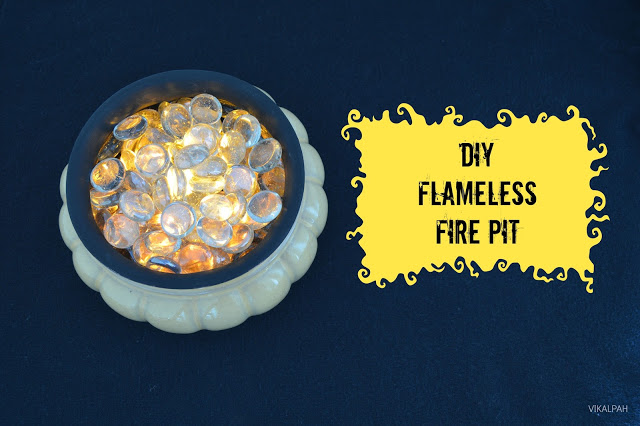 Flameless firepit for home decorating