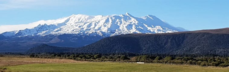 Beautiful Mt Ruapehu in New Zealand