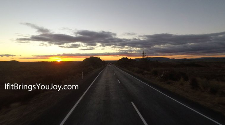 Road near Mt. Ruapehu in New Zealand
