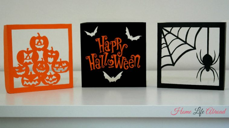 Halloween diy papercut boxes
