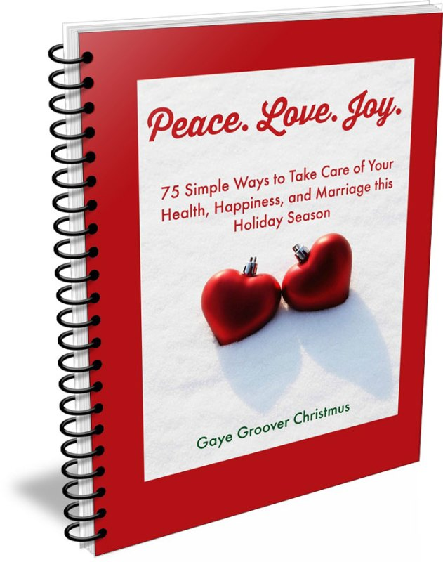 Peace. Love. Joy. By CalmHealthySexy.com