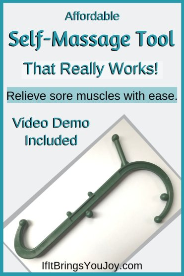 Affordable self-massage tool that really works to relieve sore muscles.