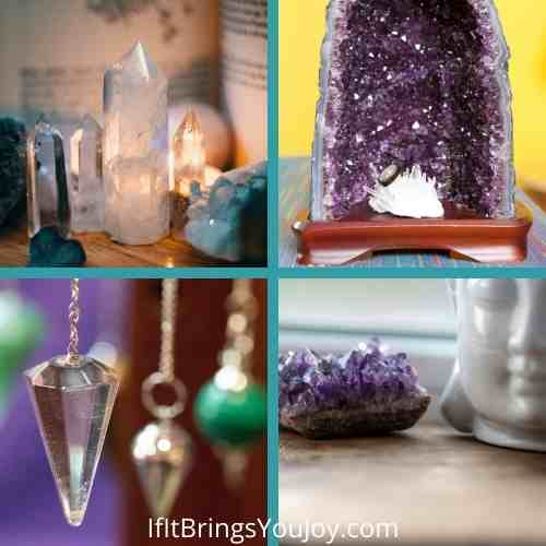 Crystals displayed in the home for good energy