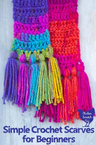 Two Crochet Scarves