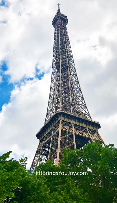 Eiffel Tower tucked in the trees