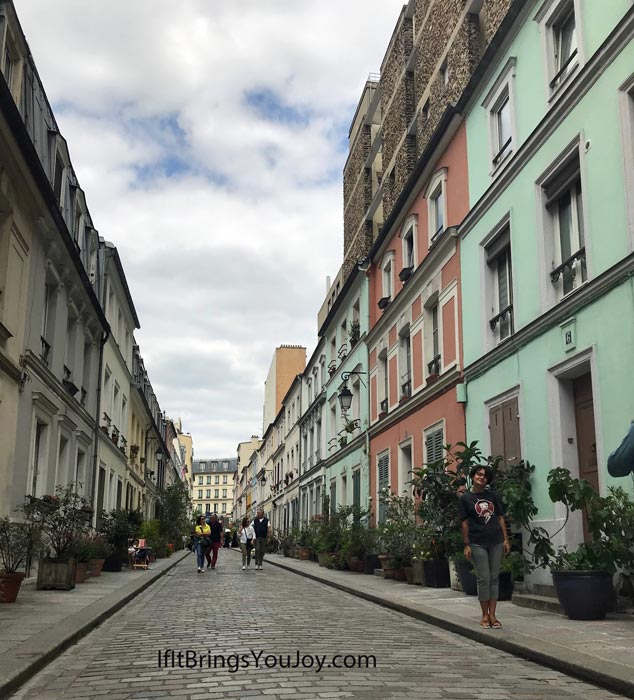 A pretty street in Paris.
