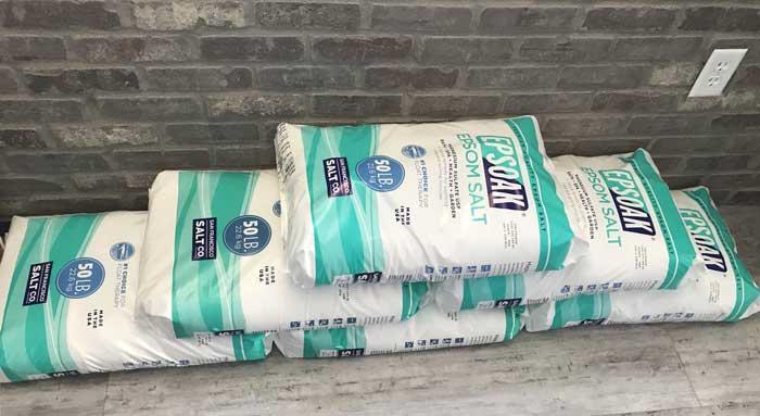 Large bags of Epsom salt