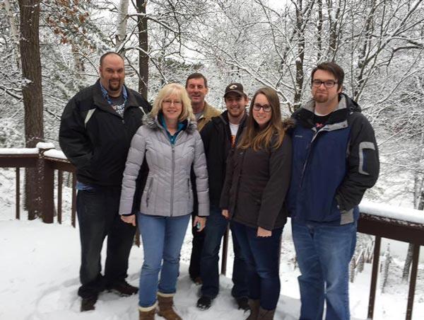Ellen Burgan with her family
