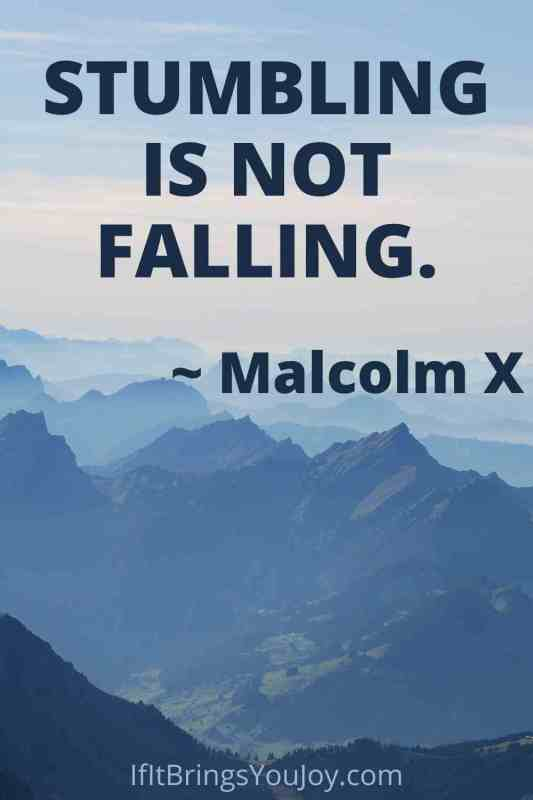 Mountain with Malcolm X quote