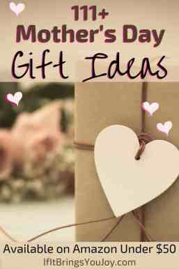 Mother's Day gift ideas - gift with heart tied onto ribbon