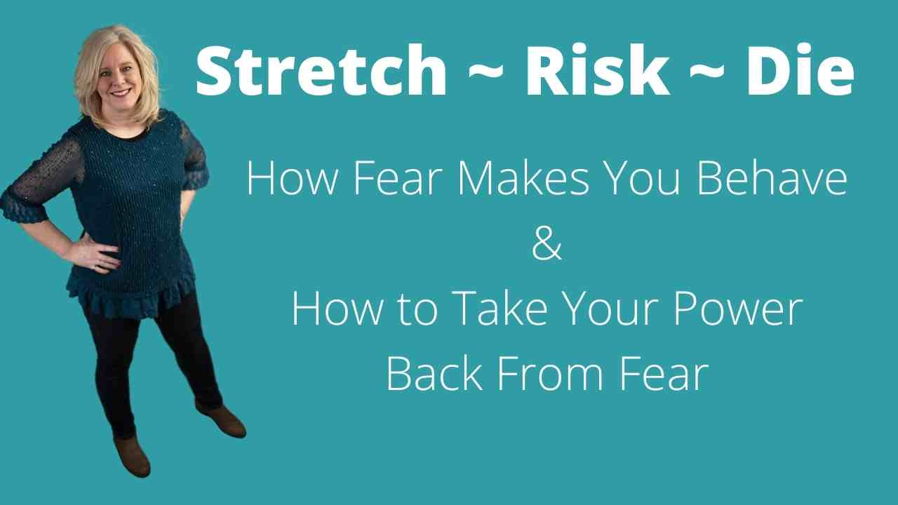 Joy Coach Ellen Burgan teaching a transformational tool called Stretch Risk Die
