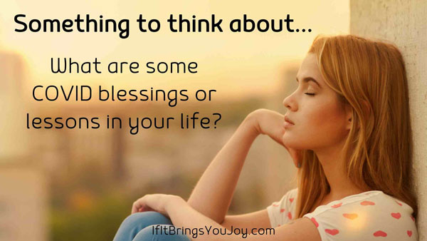 Woman thinking about her blessings