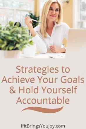 Woman achieving goals and being accountable