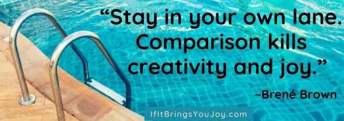 Brene Brown quote about comparison