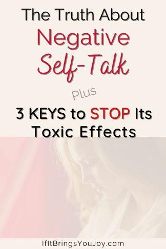Woman feeling the effects of negative self-talk