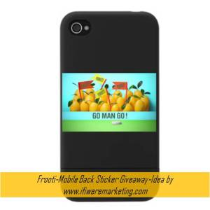 mango drinks-frooti-Mobile Back Sticker Giveaway-www.ifiweremarketing.com