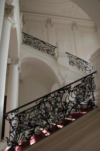 Representative staircase in the State and City Library Augsburg. Picture: Eckhart Matthäus