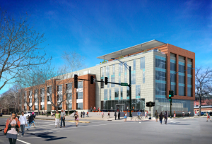 artist rendering of Sidney Lu Center for Learning and Innovation