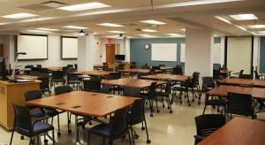flexible classroom at UIUC Medical Sciences building