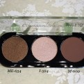 Make Up For Ever Artist Shadows ME-654, I-524, and M-600.