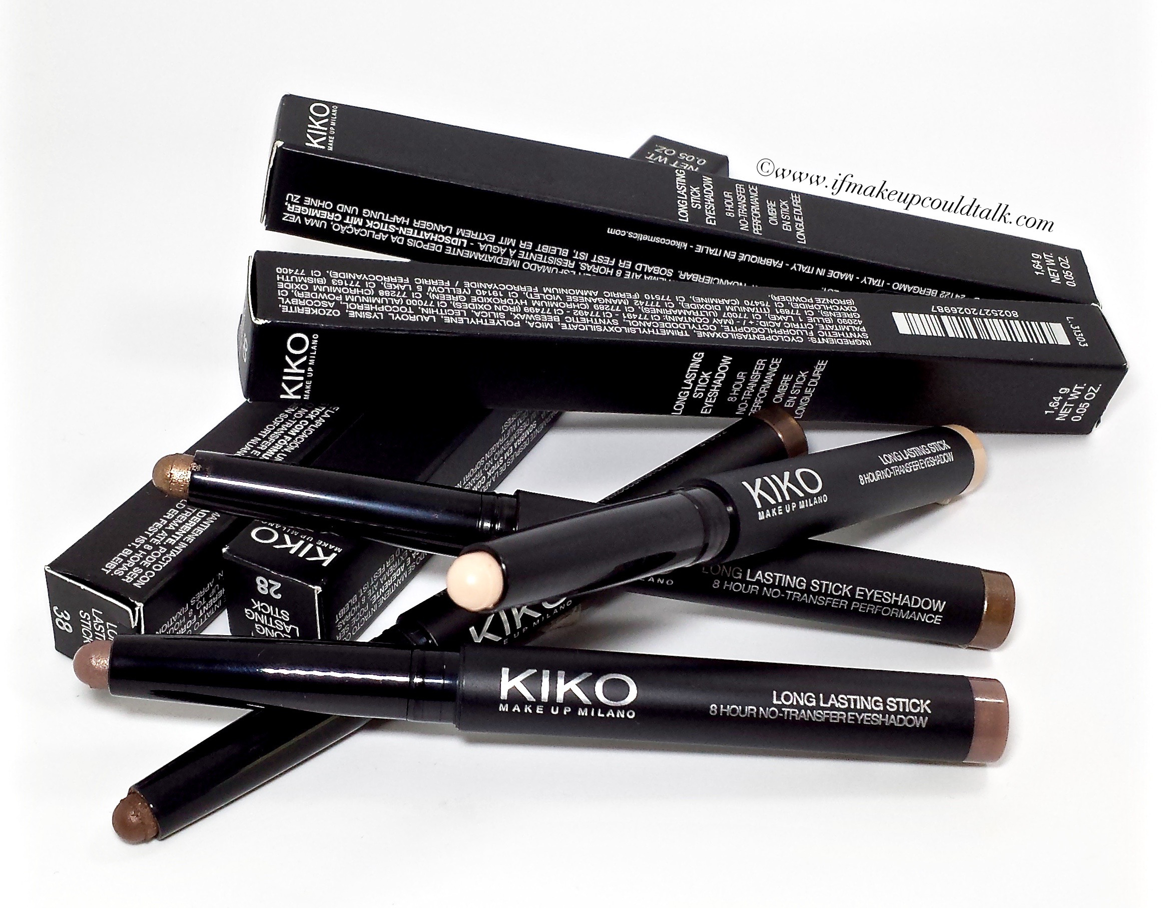 Kiko Long Lasting Stick Eyeshadow review, swatches  and looks.