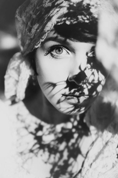 leaves-on-her-face