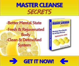 Master cleanse mix