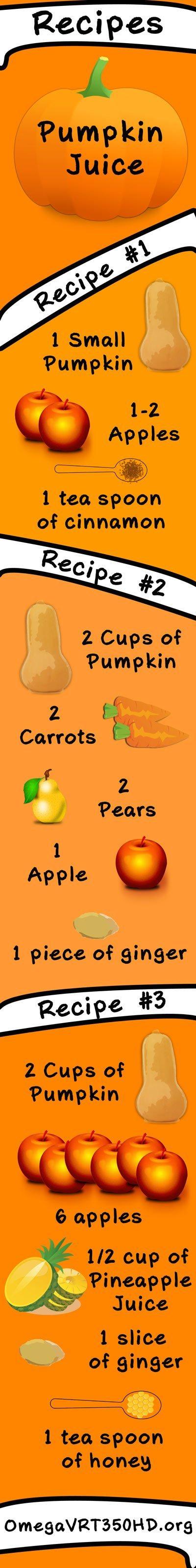 pumpkin juice recipe infographic
