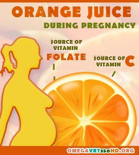 orange juice benefits for pregnancy